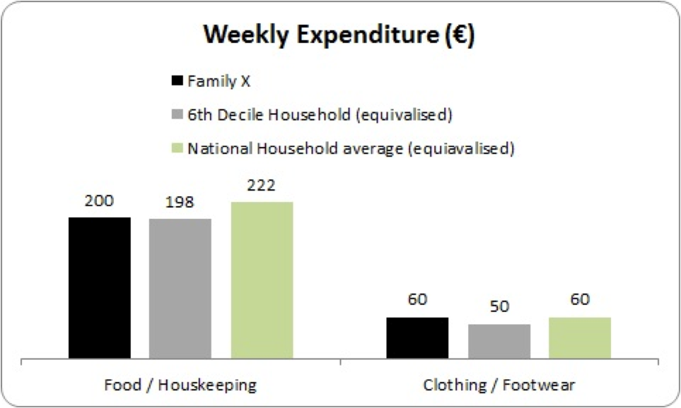family x weekly expenditure