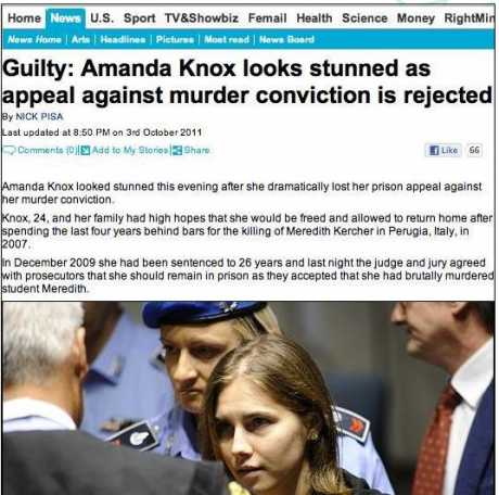 daily mail knox guilty story