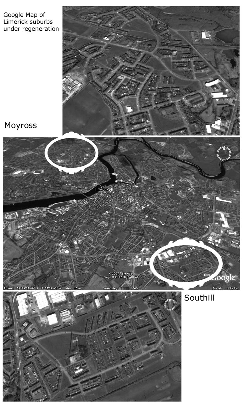 Satellite map of Moyross and Southill