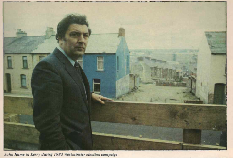 John Hume in Derry during 1983 election campaign. Photo: Derek Speirs.